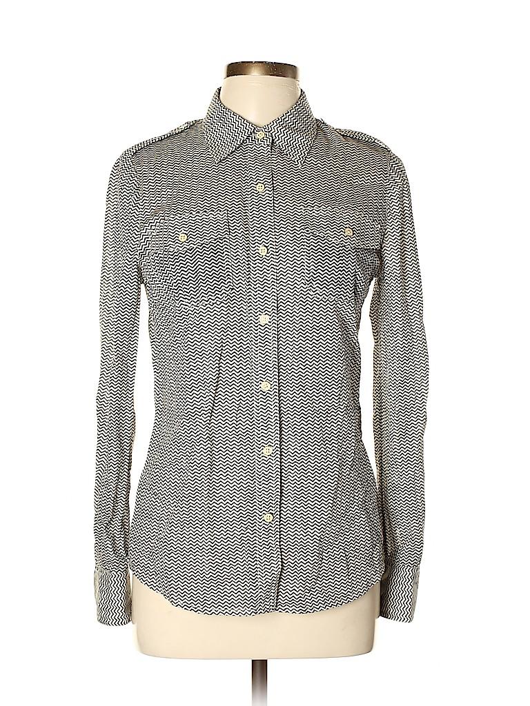 Tory Burch Women Long Sleeve Button-Down Shirt Size 8