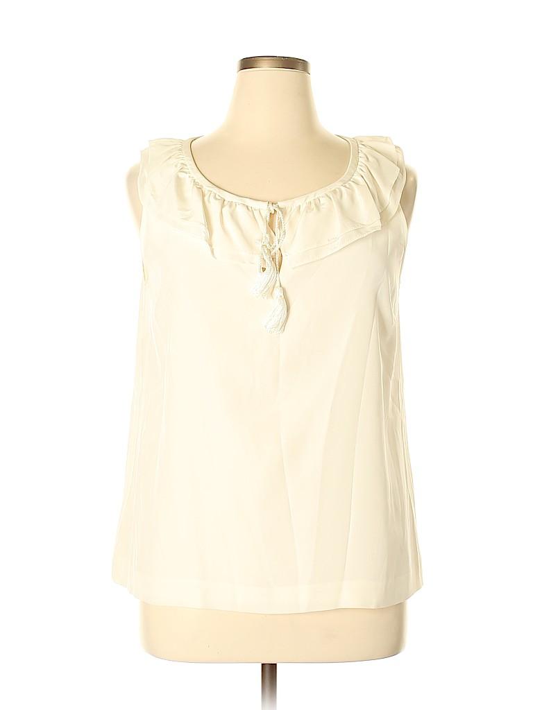 Kate Spade New York Women Short Sleeve Silk Top Size XL