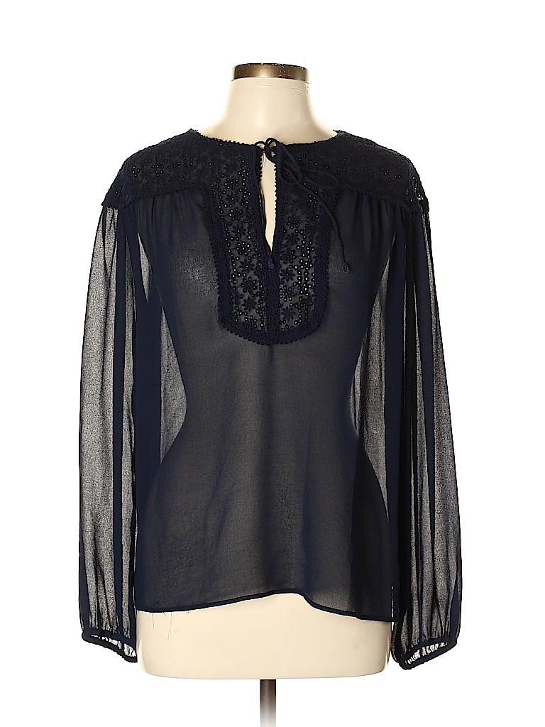Zara Basic Women Long Sleeve Blouse Size M