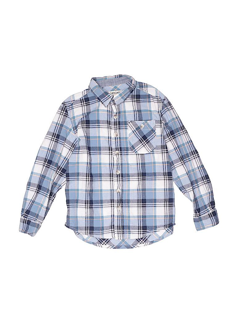 Cherokee Boys Long Sleeve Button-Down Shirt Size 6 - 7