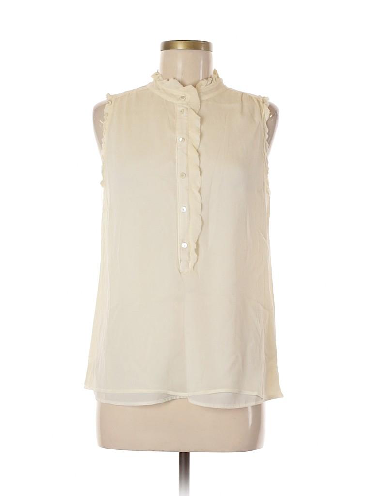 J. Crew Women Short Sleeve Silk Top Size 8