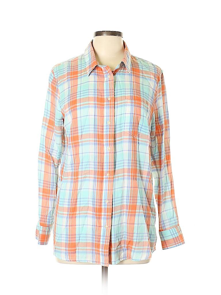 Gap Women Long Sleeve Button-Down Shirt Size L
