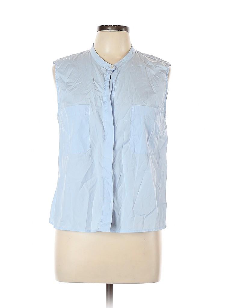 Vince. Women Sleeveless Button-Down Shirt Size L