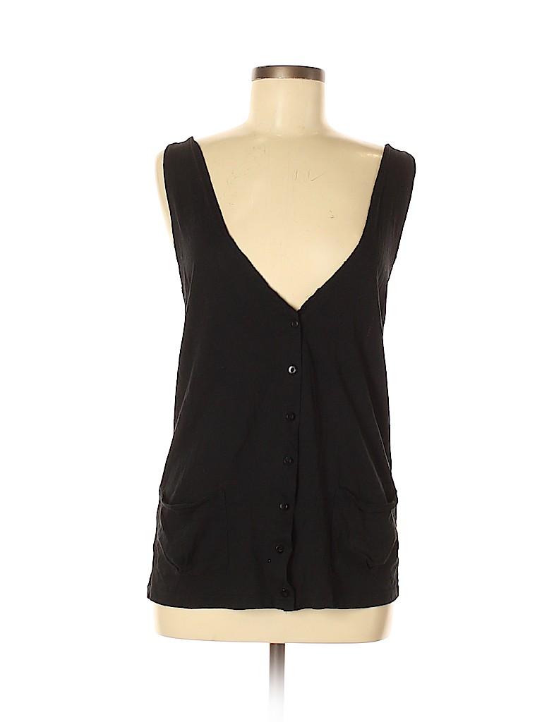 Frenchi Women Sleeveless Button-Down Shirt Size M