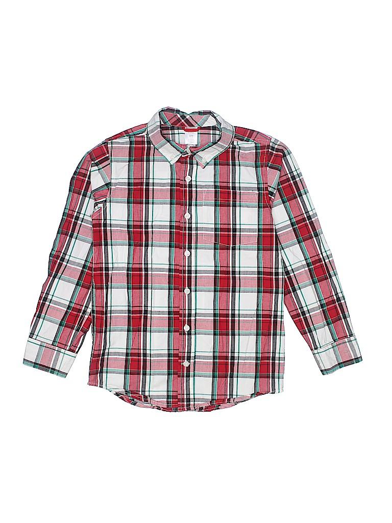 Gymboree Boys Long Sleeve Button-Down Shirt Size M (Kids)