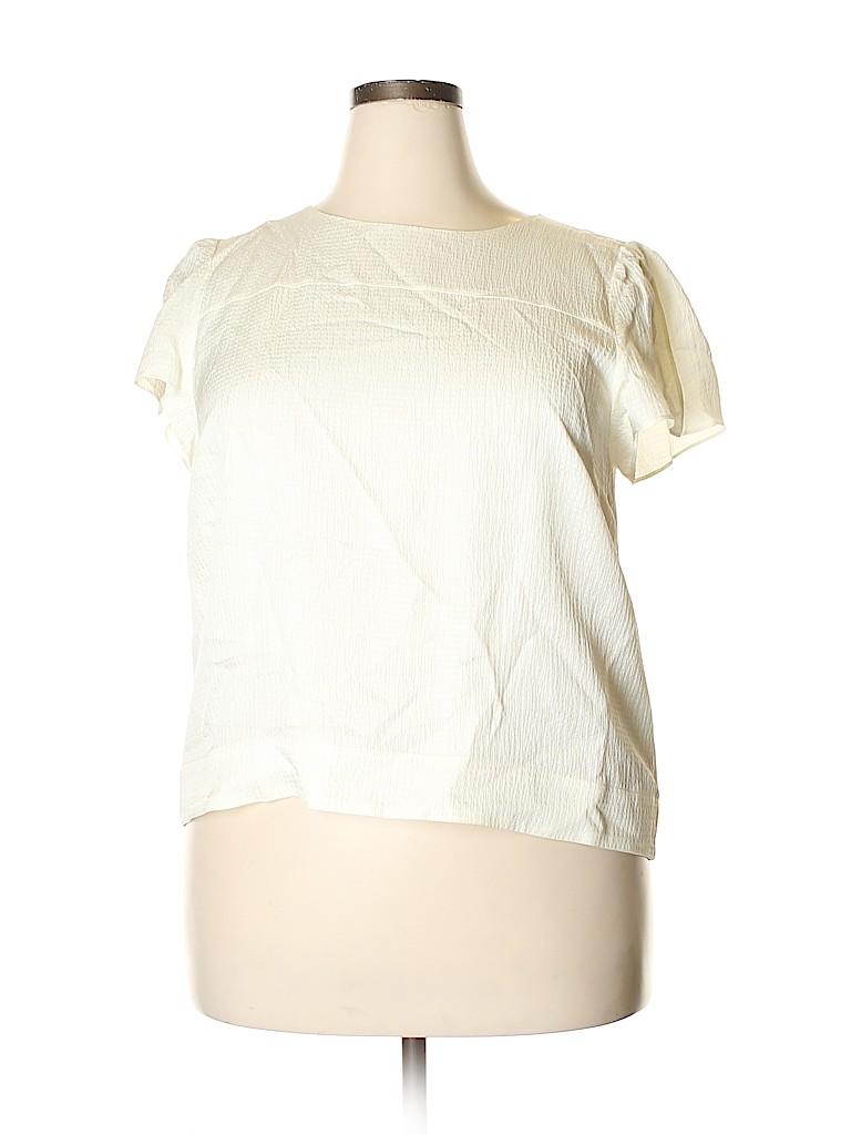 J. Crew Women Short Sleeve Blouse Size 18 (Plus)