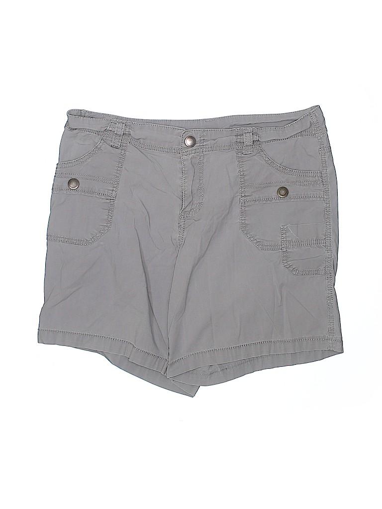 Lane Bryant Women Khaki Shorts Size 14 (Plus)