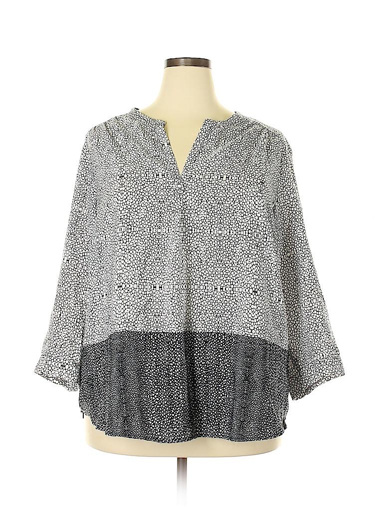 Cynthia Rowley TJX Women 3/4 Sleeve Blouse Size 3X (Plus)