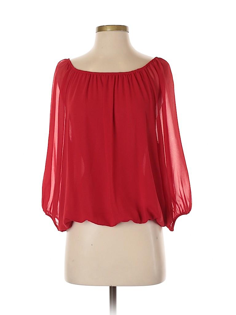 Alex Marie Women 3/4 Sleeve Blouse Size S