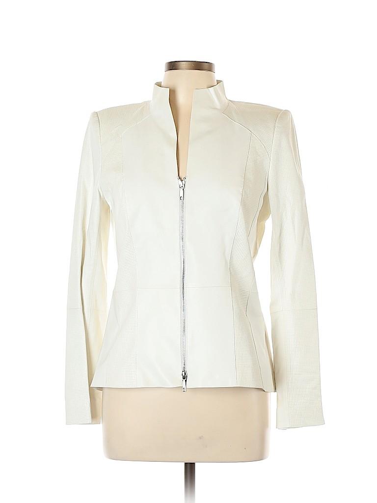 Lafayette 148 New York Women Leather Jacket Size 10