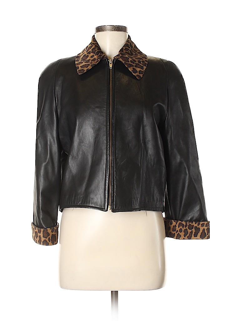 DANIER Women Leather Jacket Size XS