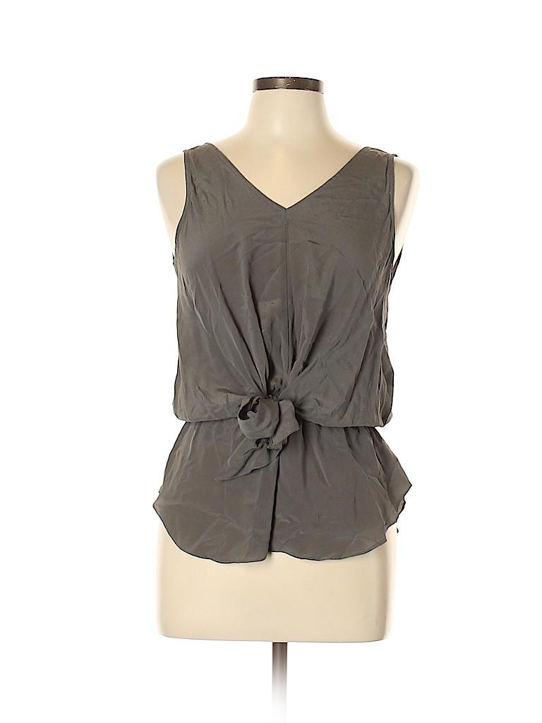 Greylin Women Sleeveless Silk Top Size M