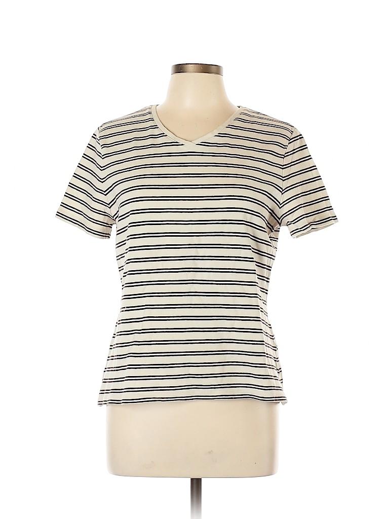 Croft & Barrow Women Short Sleeve T-Shirt Size L