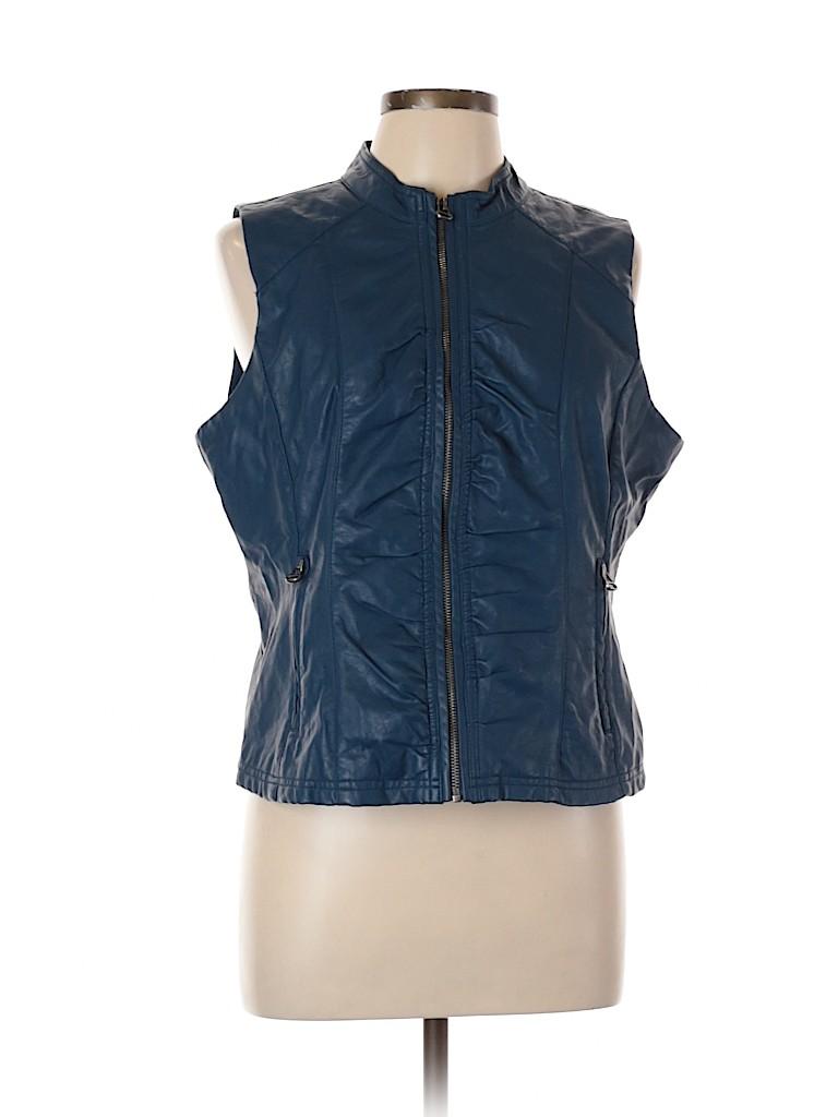 Dots Women Faux Leather Jacket Size XL