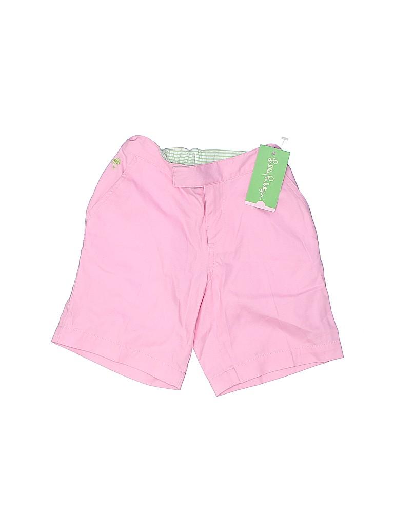 Lilly Pulitzer Girls Khaki Shorts Size 7