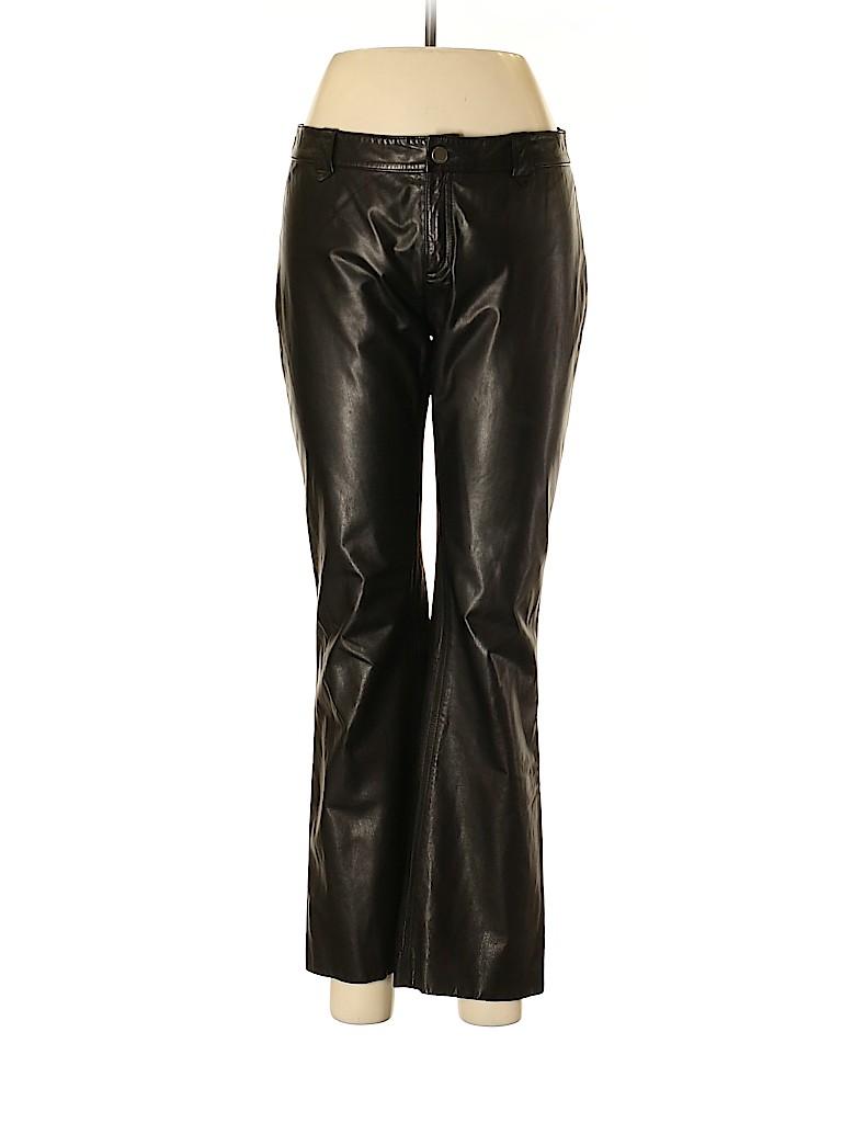 Theory Women Leather Pants Size 8