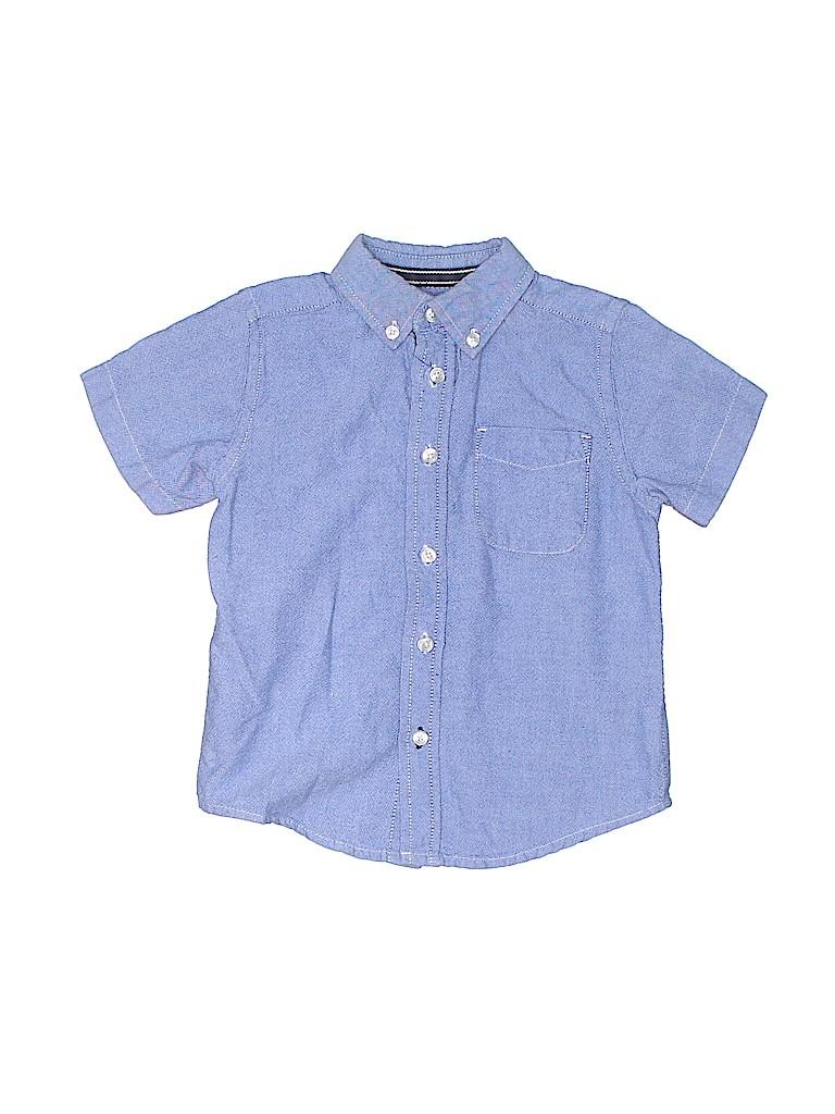 The Children's Place Boys Short Sleeve Button-Down Shirt Size 2T