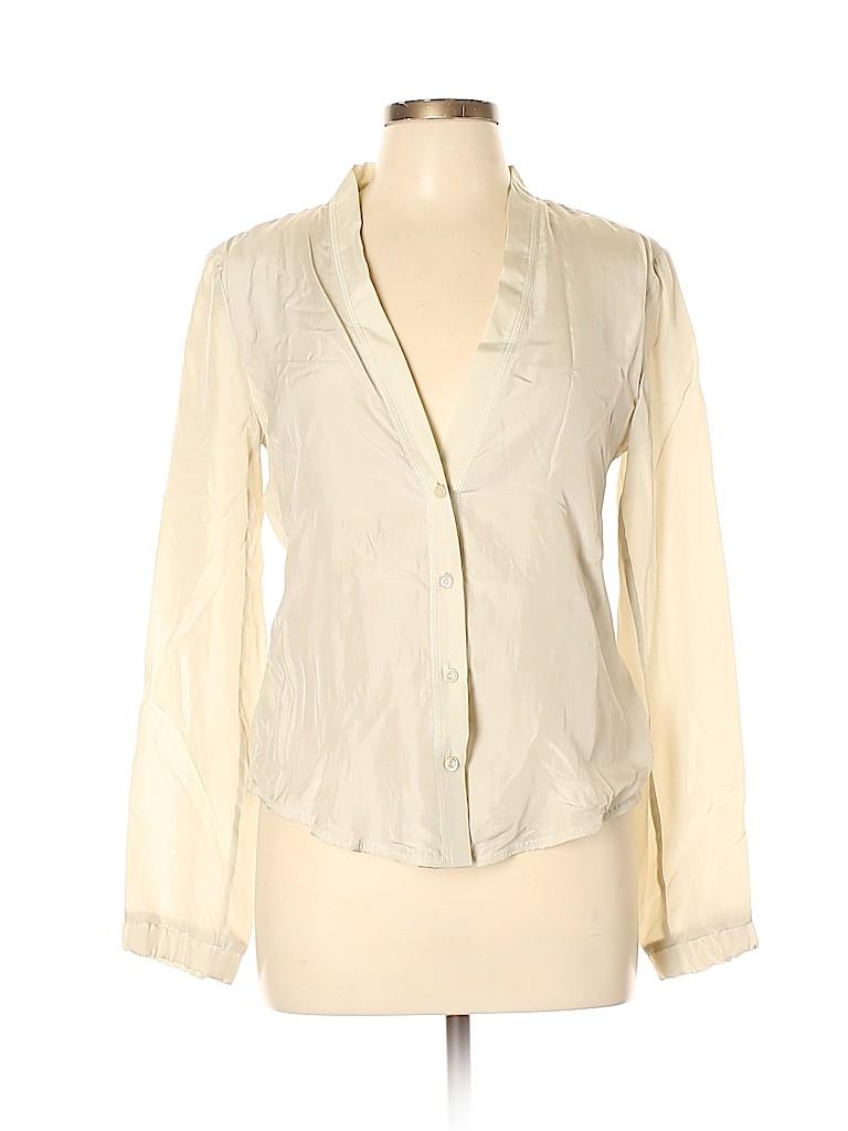 Max Mara Women Long Sleeve Silk Top Size 10