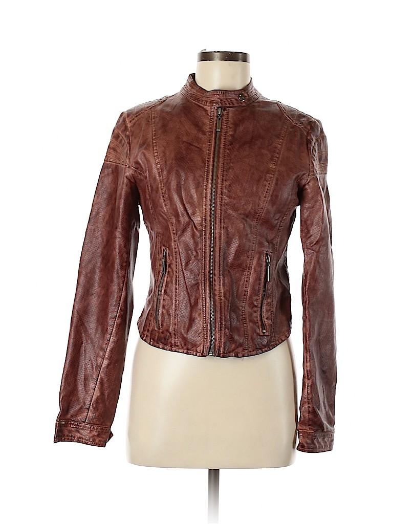 Beulah Women Faux Leather Jacket Size M