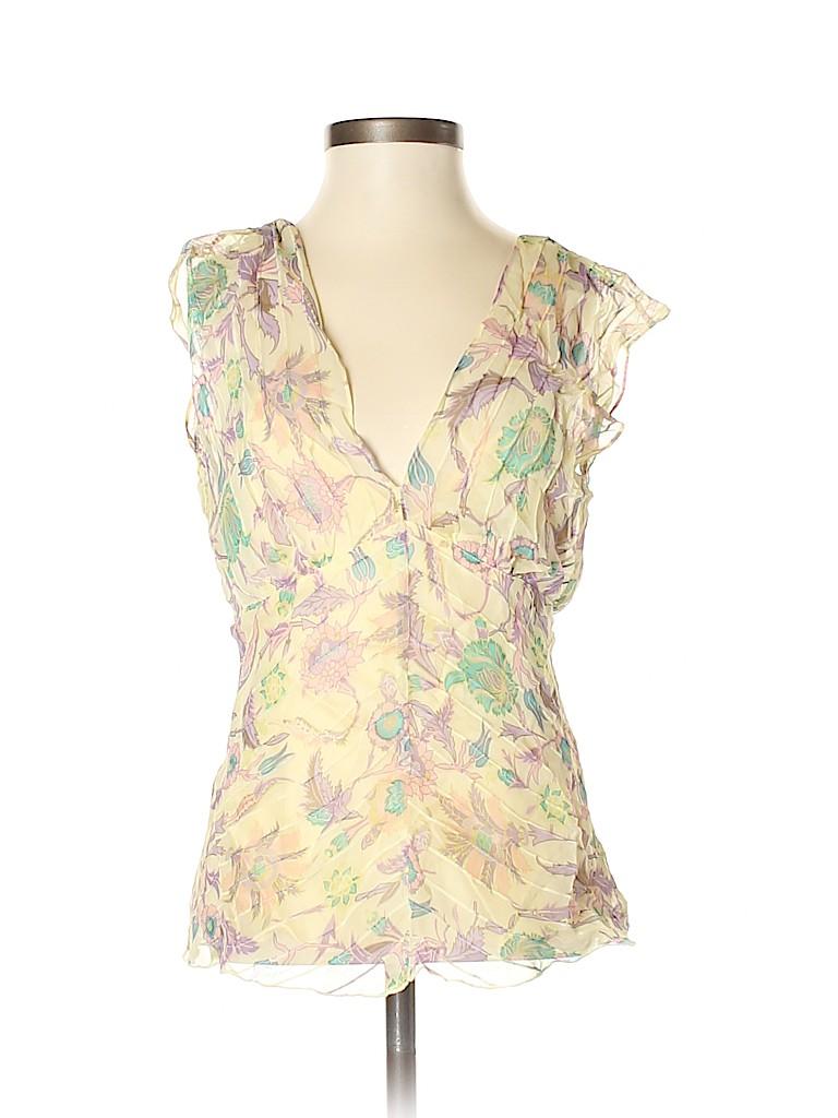 Diane von Furstenberg Women Sleeveless Silk Top Size 4