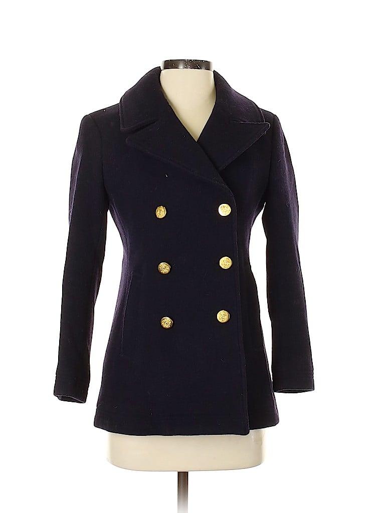 J. Crew Women Wool Coat Size 2 (Petite)