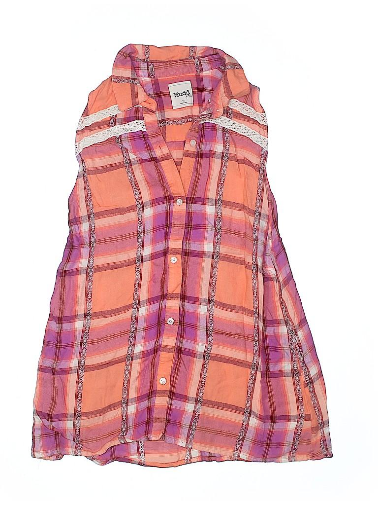 Mudd Girls Sleeveless Button-Down Shirt Size 16