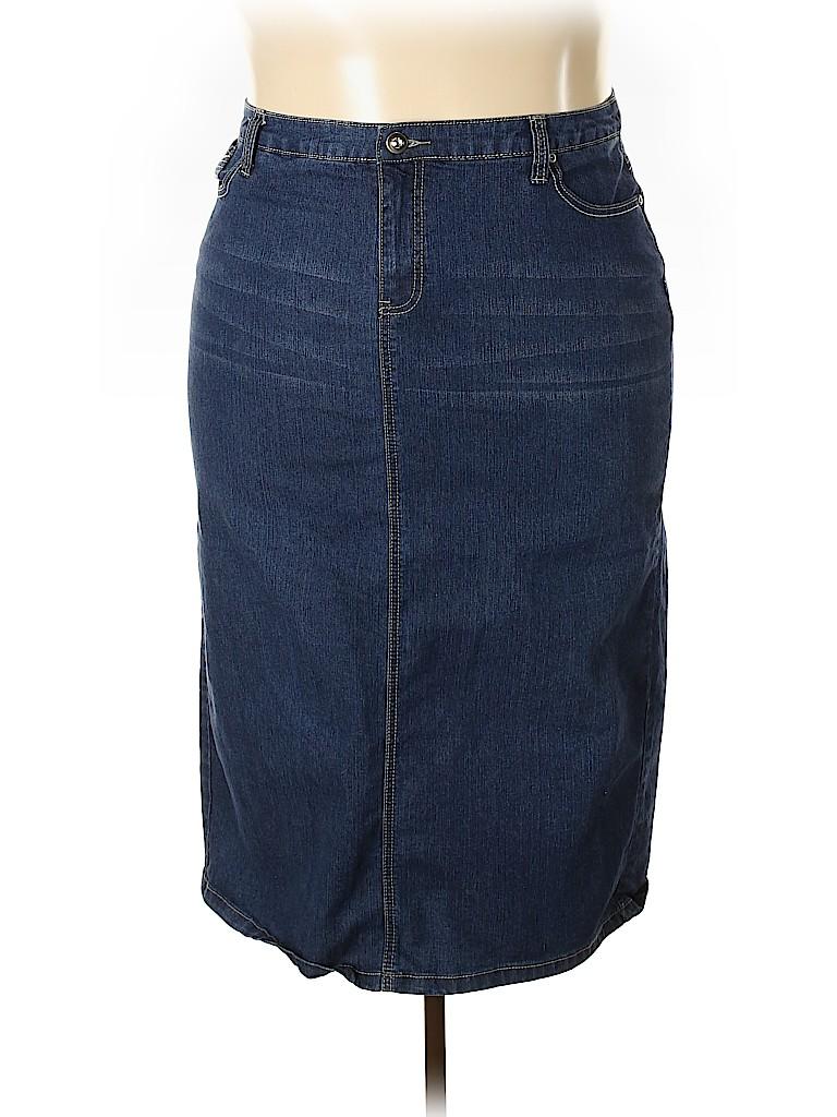 Cj Banks Women Denim Skirt Size 20 (Plus)