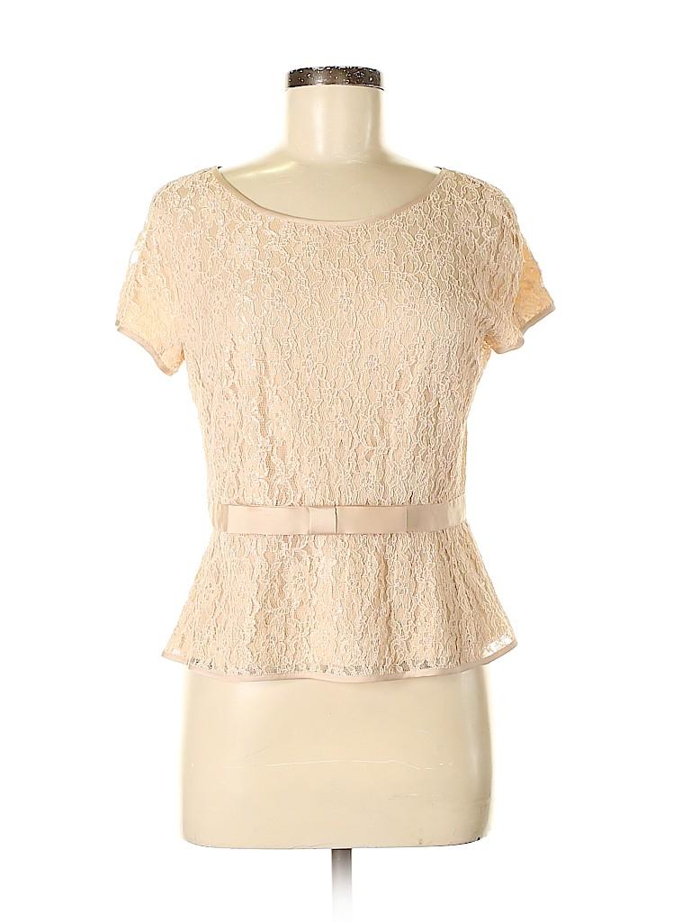 Ann Taylor Women Short Sleeve Blouse Size 6