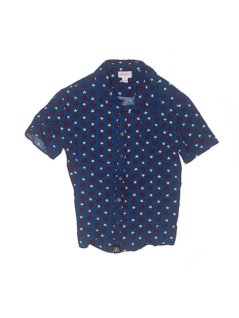 Lularoe Boys Short Sleeve Button-Down Shirt Size 8