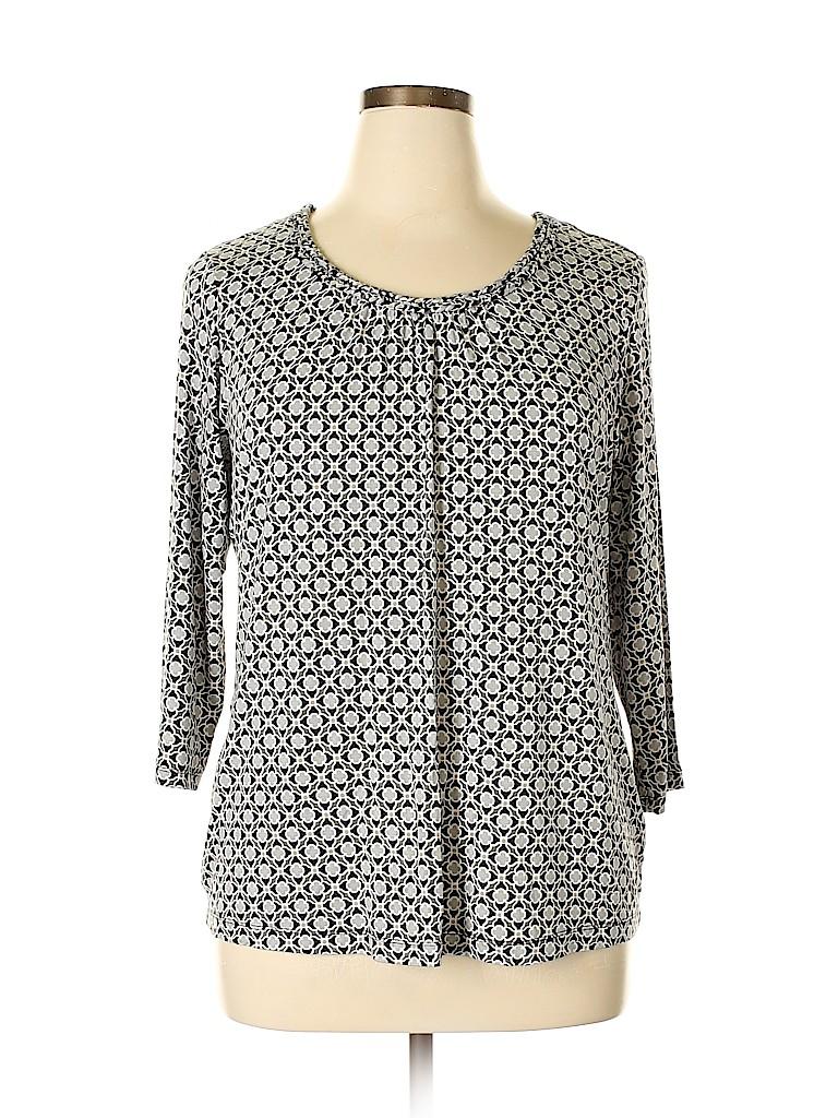 Croft & Barrow Women 3/4 Sleeve Top Size XL