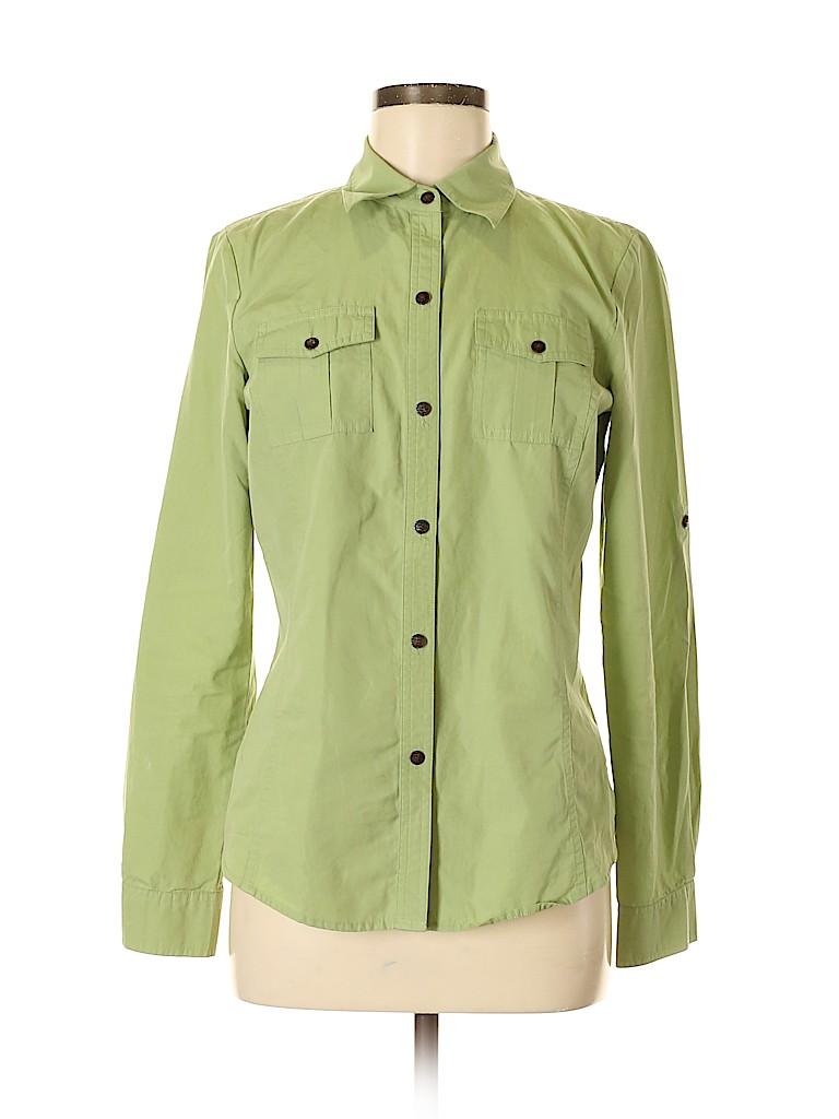 Saks Fifth Avenue Women Long Sleeve Button-Down Shirt Size 6