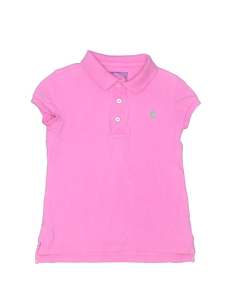 Ralph Lauren Girls Short Sleeve Polo Size 7