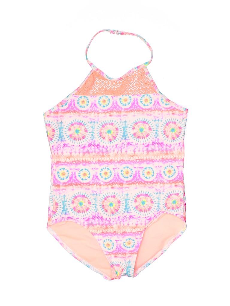Wonder Nation Girls One Piece Swimsuit Size 10 - 12