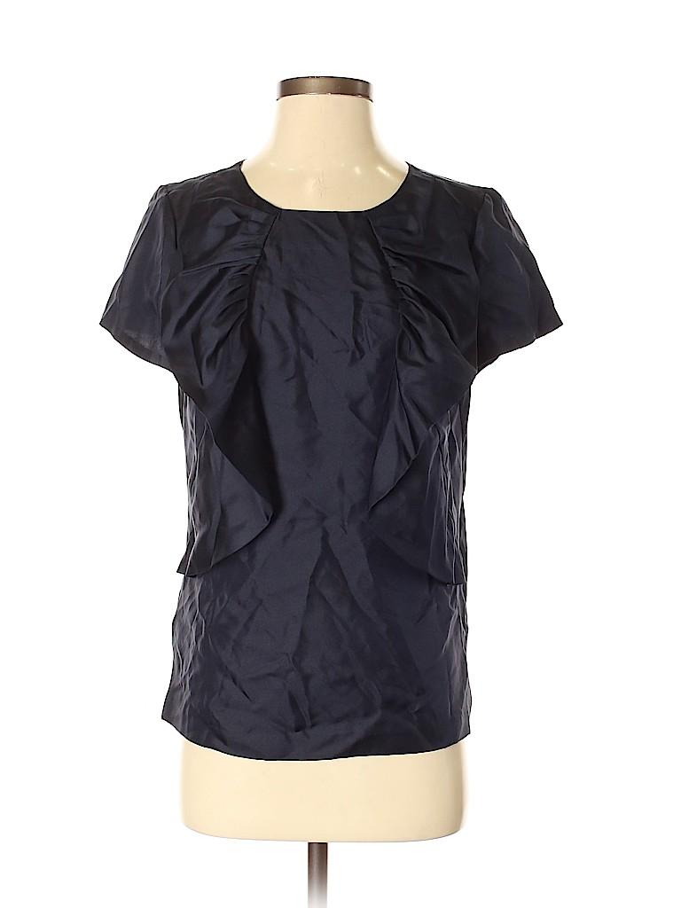 Ann Taylor Women Short Sleeve Silk Top Size S