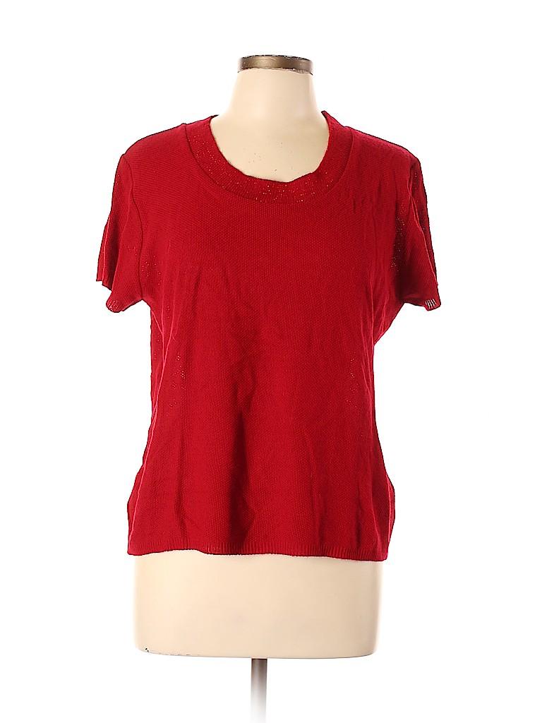 Denim & Co Women Short Sleeve Top Size L