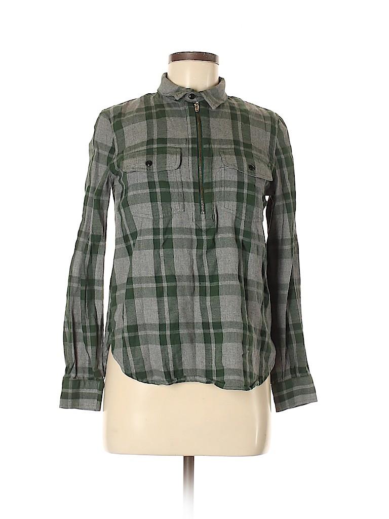 Madewell Women Long Sleeve Blouse Size S