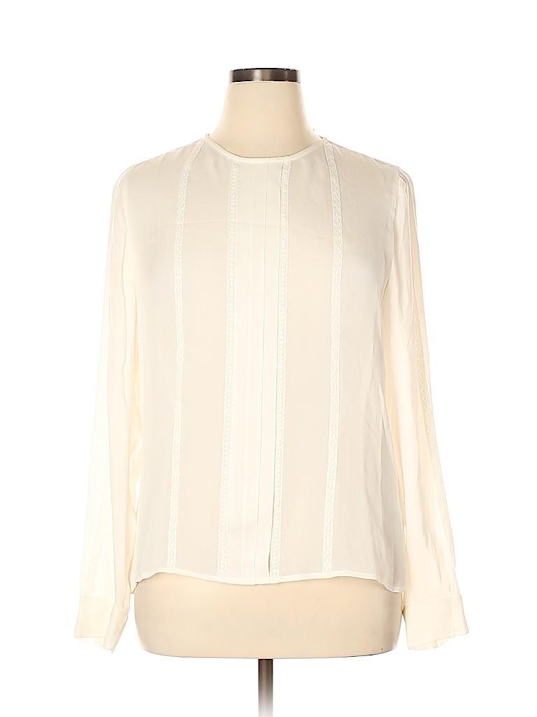 J. Crew Women Long Sleeve Silk Top Size 14