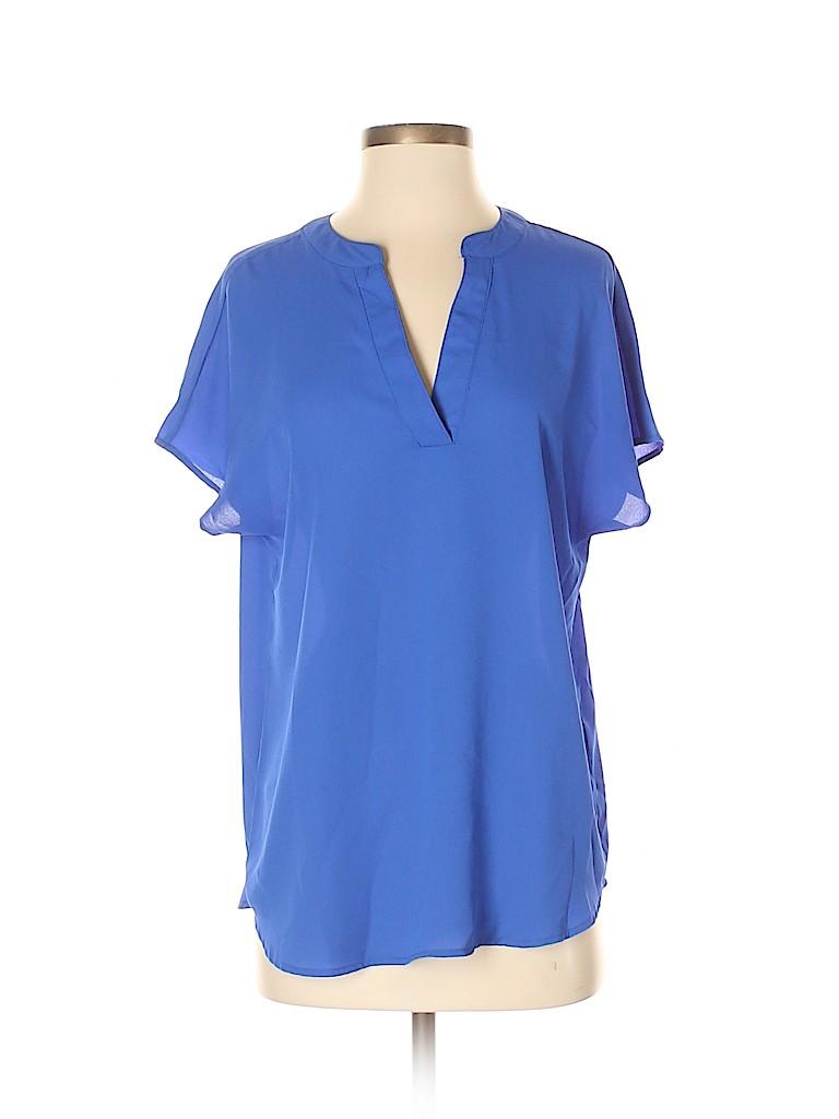 Adrianna Papell Women Short Sleeve Blouse Size S