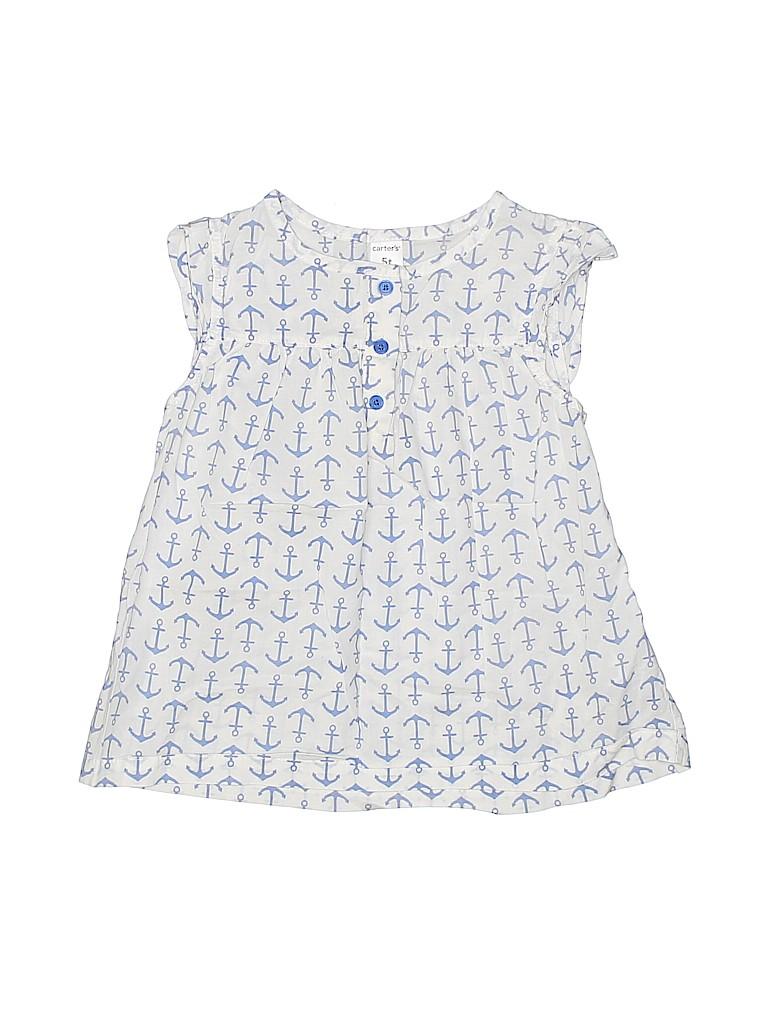 Carter's Girls Short Sleeve Button-Down Shirt Size 5T
