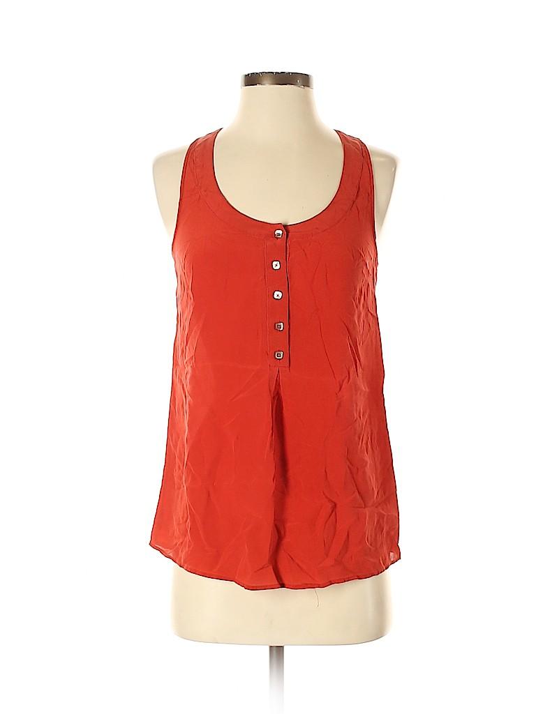 Odille Women Sleeveless Silk Top Size 0
