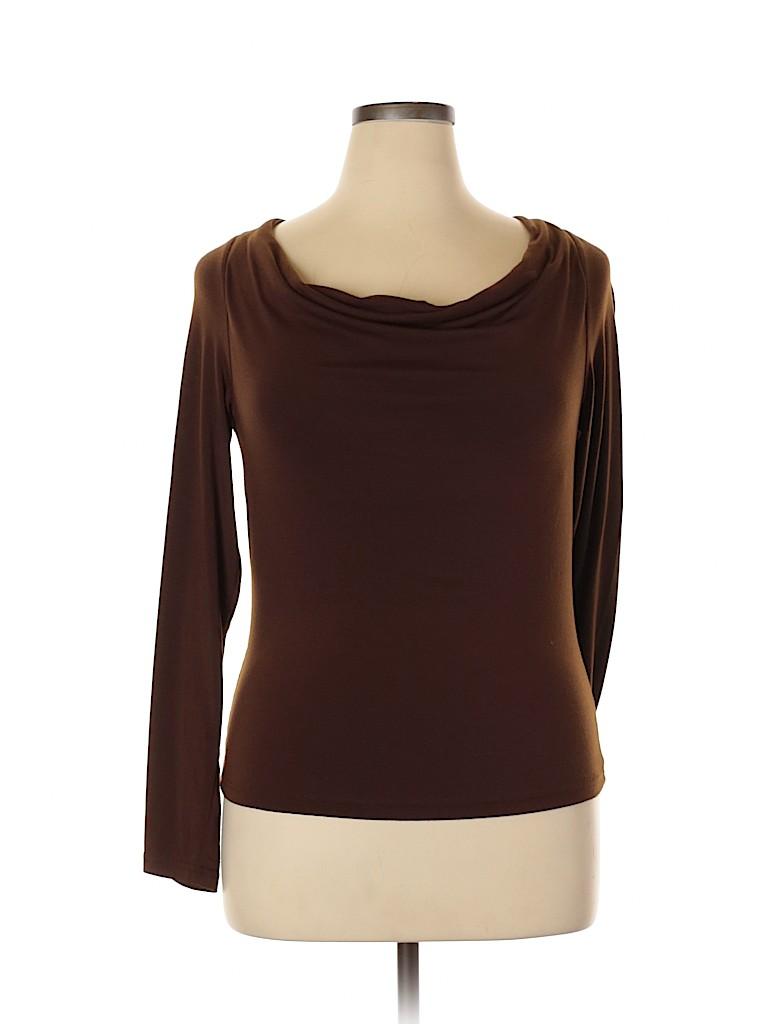 Willi Smith Women Long Sleeve Top Size XL