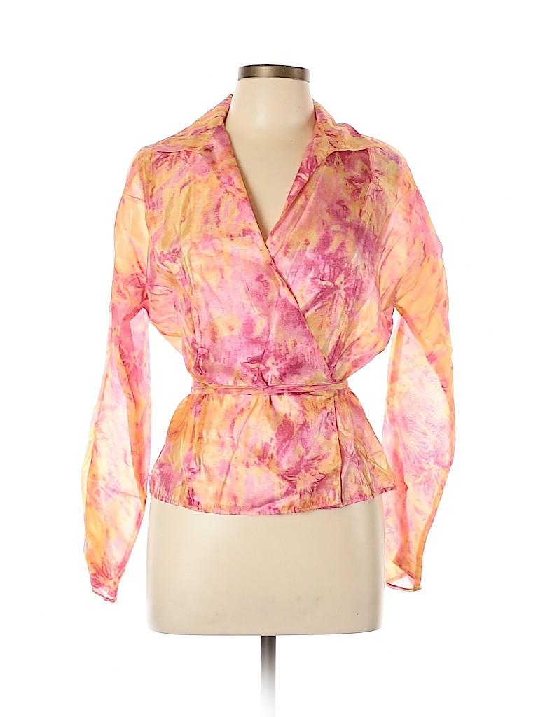 Lafayette 148 New York Women Long Sleeve Blouse Size 10