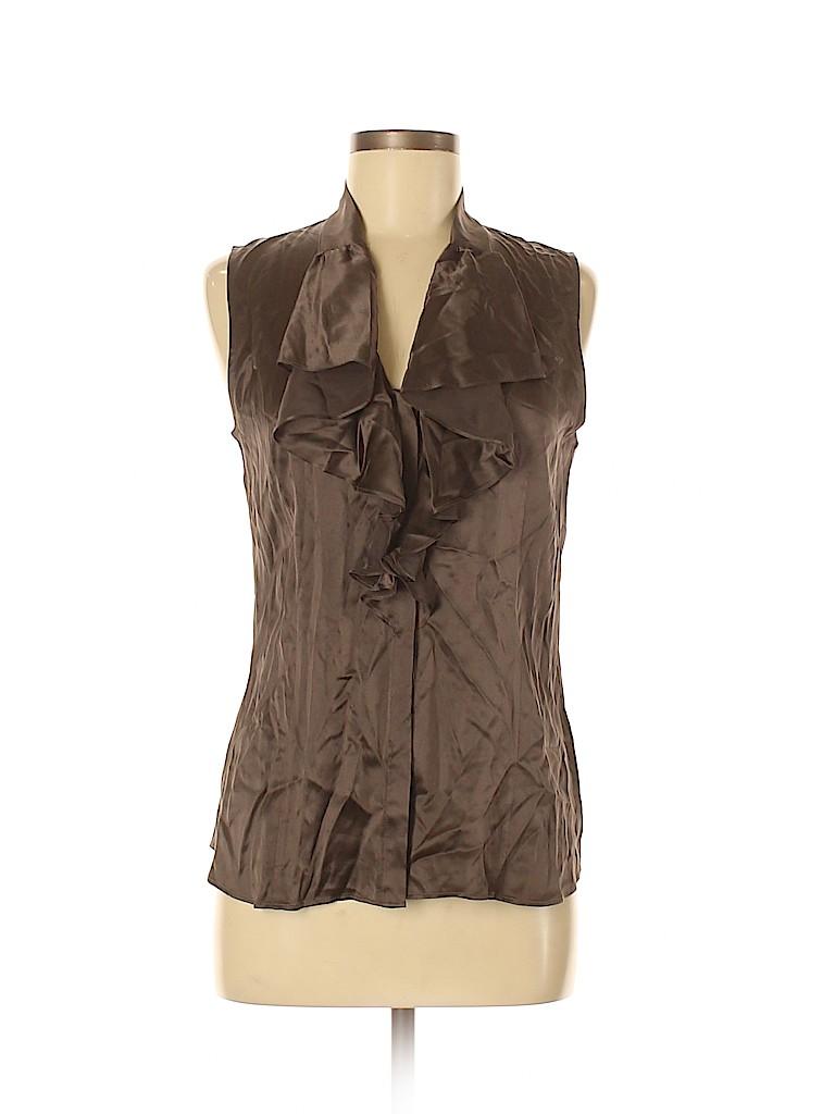 Lafayette 148 New York Women Sleeveless Silk Top Size 6