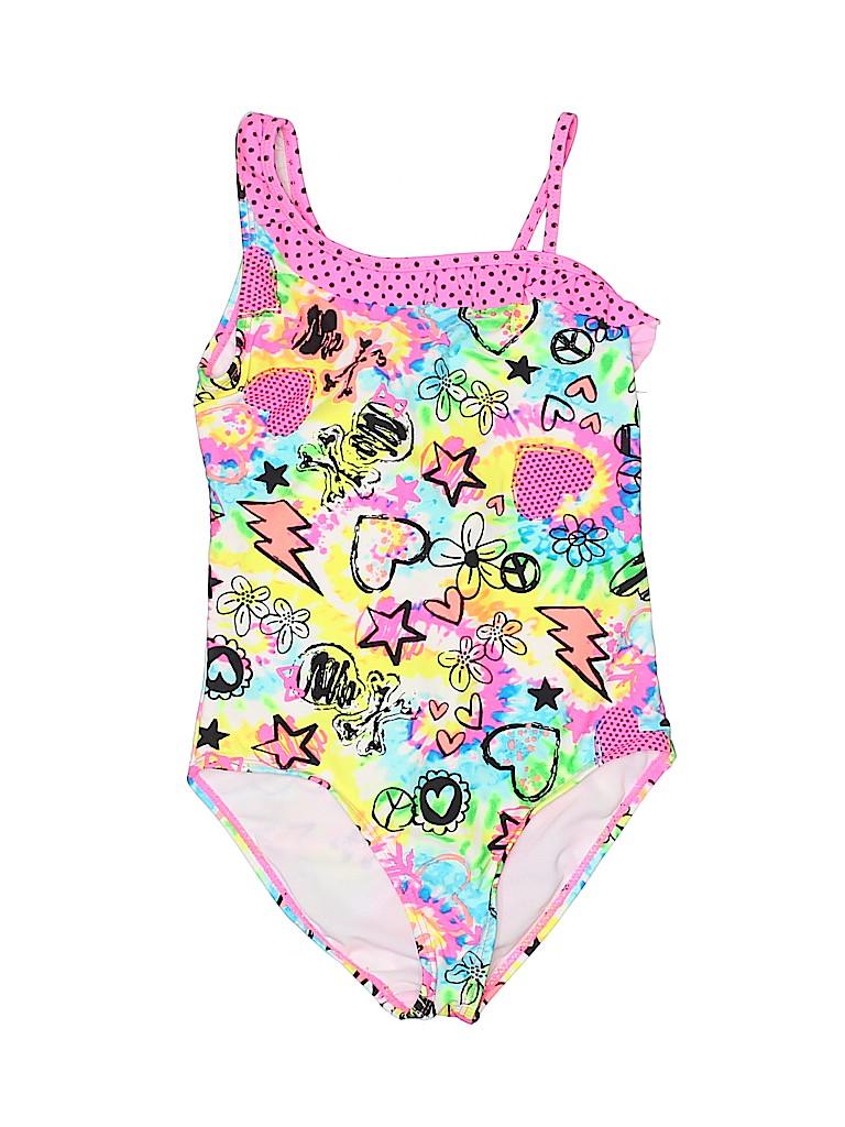 Op Girls One Piece Swimsuit Size 6 - 6X