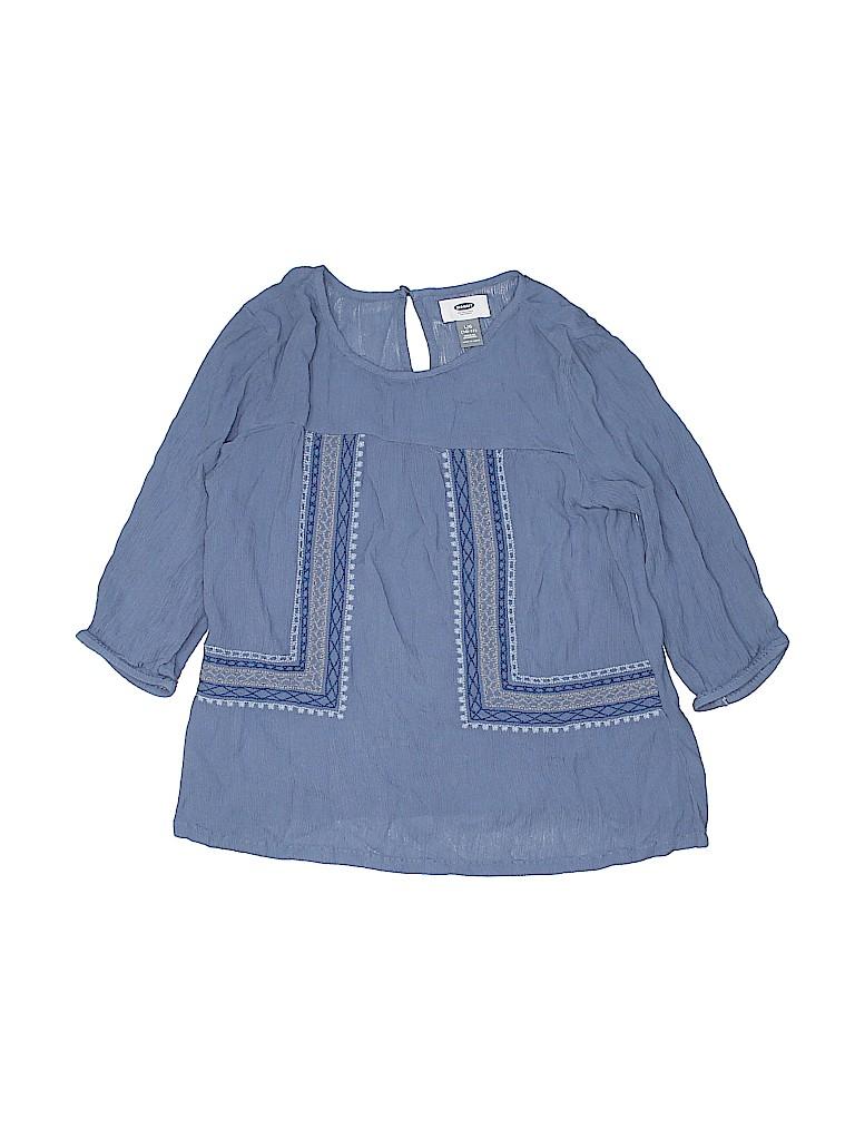 Old Navy Girls 3/4 Sleeve Blouse Size L (Kids)