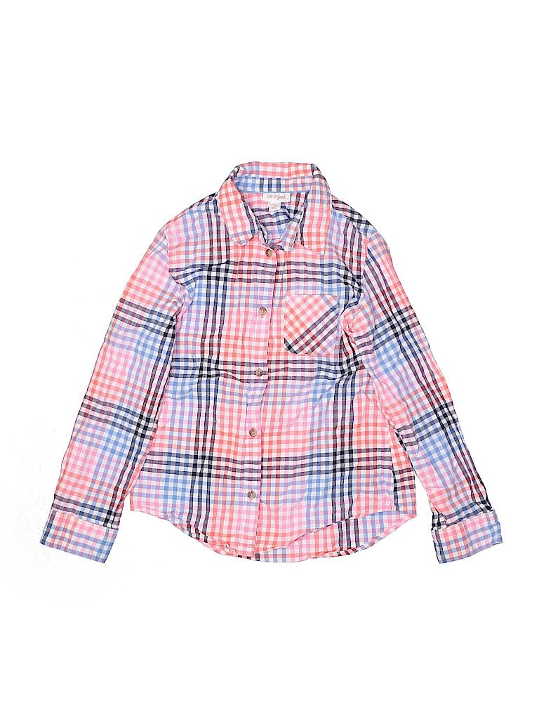 Cat & Jack Girls Long Sleeve Button-Down Shirt Size 10 - 12
