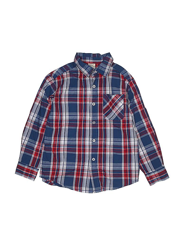 Faded Glory Boys Long Sleeve Button-Down Shirt Size 6 - 7