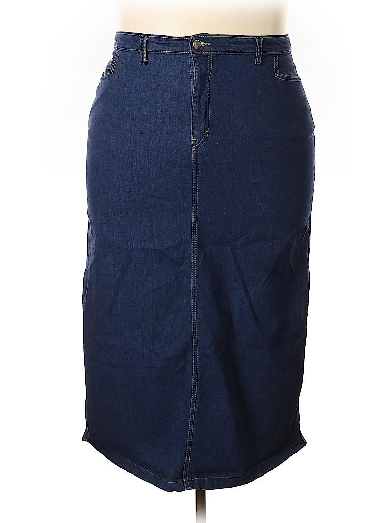 Unbranded Women Denim Skirt Size 22 (Plus)