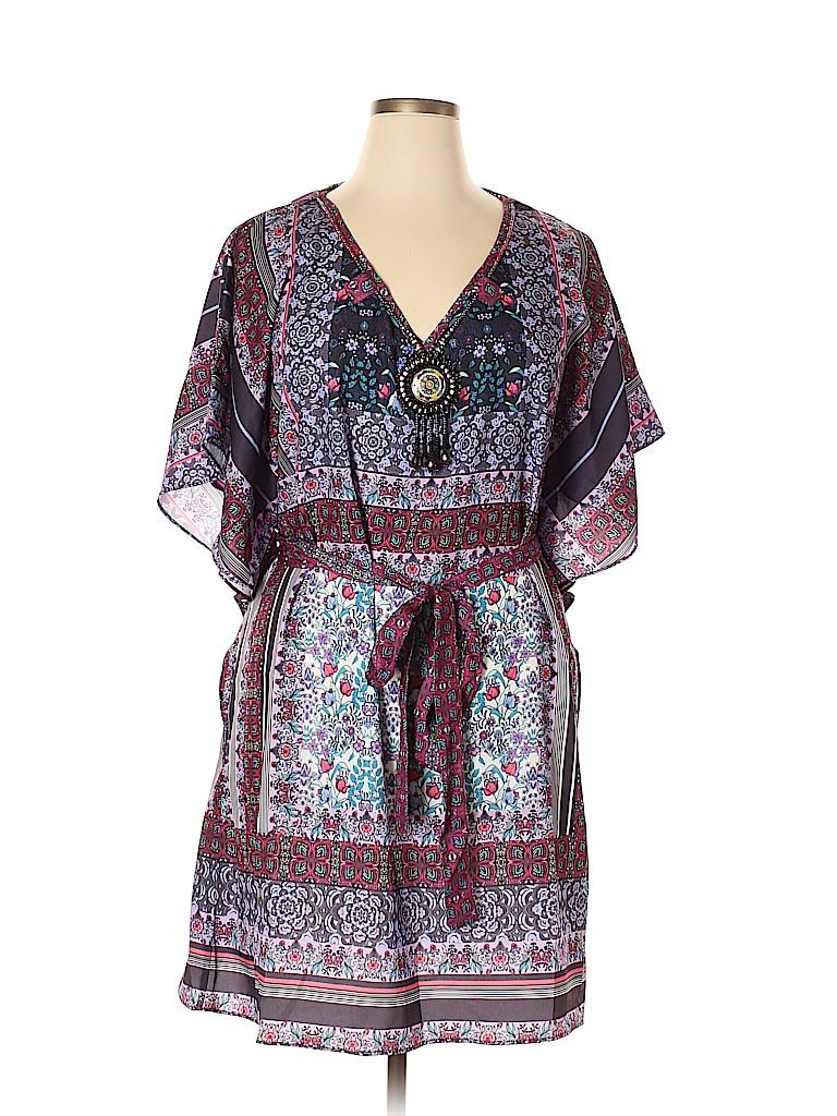 City Chic Women Casual Dress Size XS/14 Plus (Plus)