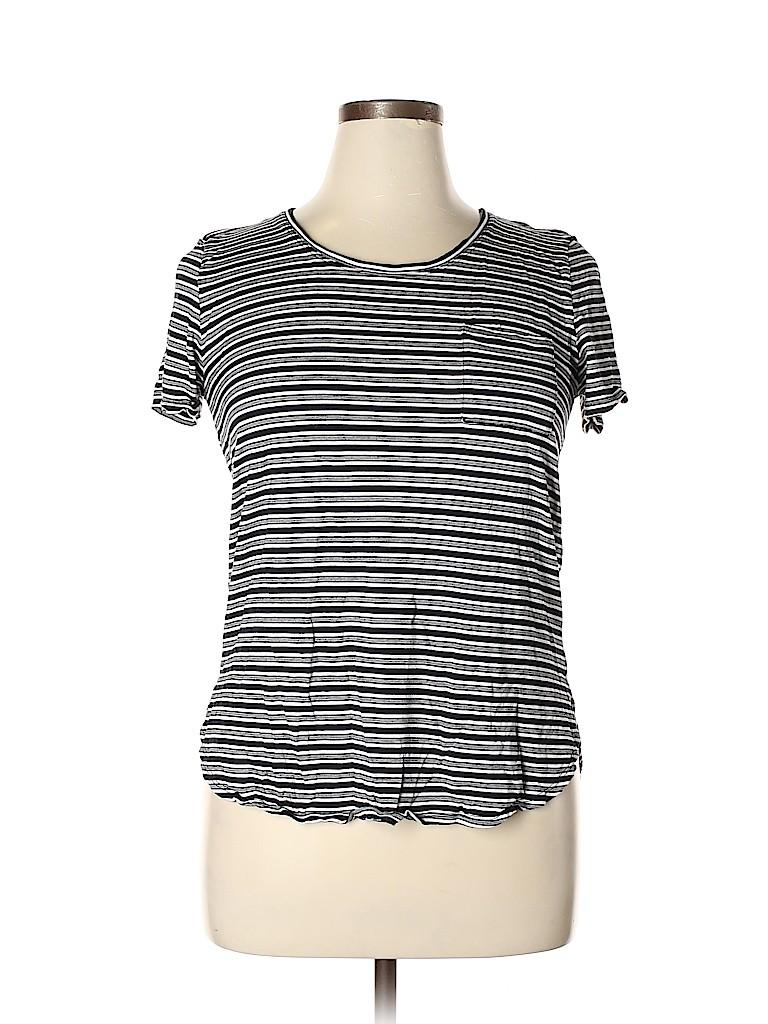 Joe Fresh Women Short Sleeve T-Shirt Size L